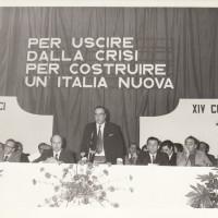Fondo Fotografico Michele Minisci- XIV Congresso della Federazione forlivese del PCI, intervento del Sindaco di Forlì Angelo Satanassi, febbraio/marzo 1975