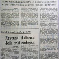 L'Unità Emilia Romagna, 20 giugno 1971, p. 11- articolo sulla dimostrazione in solidarietà con i lavoratori della Becchi promossa da FGCI, FGS, FGS del PSIUP, organizzazioni giovanili di ACLI e MPL, 18 giugno 1971