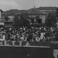 "Seconda metà anni '50. Viserba. In estate si ballava all'esterno del Dancing ""Sirenetta"""