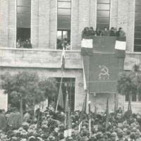 Palmiro Togliatti all'inaugurazione della Strocchi, 22 dicembre 1946