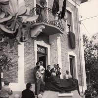 12 giugno 1971. Rimini, Via Valturio. Al microfono il sen. Umberto Terracini