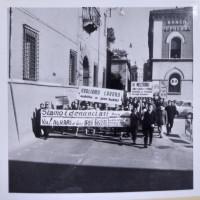 Ravenna, 1964. Manifestazione braccianti contro le denunce degli agrari