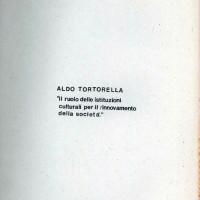 """Centro Gramsci, Ferrara, copertina della dispensa sull'incontro con Aldo Tortorella su """"Il ruolo delle istituzioni culturali per il rinnovamento della società"""", tenutosi a Ferrara il 6 marzo 1976"""