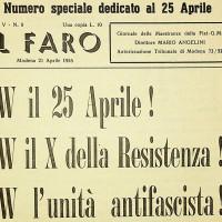 Numero de «Il Faro» dedicato al 25 aprile, 21 aprile 1955 [ISMO, Archivio CGIL]