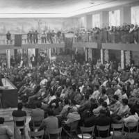Settembre 1967. Riccione. Manifestazione del PCI con il Segretario Generale Luigi Longo. La sala della Casa del popolo gremita