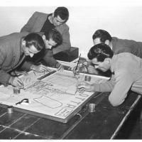 Festa del 1951, la preparazione dei cartelloni [ISMO, AFPCMO]