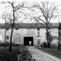 La casa colonica della famiglia Manfredi a Villa Sesso, fotografata poco dopo la fine della guerra