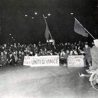 Manifestazione di protesta (da Processo all'Eridania, Documentario a cura di Renato Siiti, Editori Riuniti, 1970)