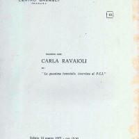 """Centro Gramsci, Ferrara, copertina della dispensa sull'incontro con Cartla Ravaioli: """"La questione femminile, intervista al PCI"""", tenutosi a Ferrara il 12 marzo 1977"""