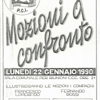 Volantino ella sezione R. Santi, 1990