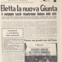 Orio Teodorani, Comunisti a Cesena. Storie, personaggi ed eventi del Partito Comunista cesenate 1920-1975, p. 459- articolo relativo alla ricostituzione della Giunta Lucchi dopo le elezioni del 1975, agosto 1975