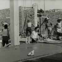 16 luglio 1961. Santarcangelo di Romagna. La costruzione della sede del PCI