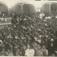 Conferenza del PCI presso la Sala Verdi sulla democrazia progressiva, fine anni Quaranta – inizio anni Cinquanta