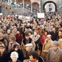 Manifestazione sindacale, anni Settanta