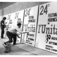 La preparazione dei pannelli della festa del 1969  [ISMO, AFPCMO]