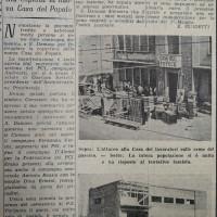 """Articolo de """"La Verità"""" sulla reazione della popolazione allo sfratto: la copertura fu festeggiata pochi giorni prima del Natale 1954    [La verità, 25 dicembre 1954]"""