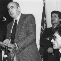 9 febbraio 1980. Inaugurazione ufficiale della sede del PCI di Bellaria-Igea Marina con l'on. Giorgio Napolitano. Da sin. l'on. Giorgio Napolitano, Rino Zammarchi, il Segretario del PCI di Bellaria-Igea Marina Giorgio Pasquini