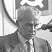 Anni Ottanta, Pietro Ingrao relatore a una festa dell'Unità modenese [ISMO, AFPCMO]