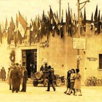 Mesola in festa dopo la Liberazione nella ex Casa del Fascio diventata Casa del Popolo