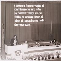 Archivio personale di Claudia Castellucci-Manifestazione della FGCI alla presenza del Segretario nazionale Marco Fumagalli, 1980