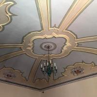 2002. Morciano di Romagna, sala della sede PCI. Il soffitto ottocentesco della sala riunioni restaurato nel corso dei lavori di manutenzione dello stabile