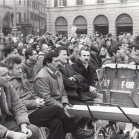 Fondo Fotografico Michele Minisci- Consigli comunale e provinciale congiunti sul tema della crisi industriale della ditta Maraldi, 13 gennaio 1984