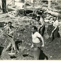 Brisighella. Costruzione nuova Casa del Popolo, 1955