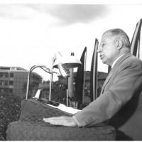 Palmiro Togliatti parla in occasione della festa nazionale del 1957 [ISMO, AFPCMO]