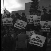 Cartelli contro il raduno dell'Msi a Modena, maggio 1961 [ISMO, AFPCMO]