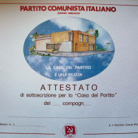 1983. Misano Adriatico. Cartella per la sottoscrizione per la Casa del Partito
