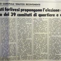 L'Unità Emilia Romagna, 22 febbraio 1972, p. 8- articolo relativo ad un Covegno comunale del PCI sul funzionamento dei quartieri, febbraio 1972