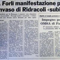 Il Forlivese, 10 gennaio 1976, articolo in merito allo stato di avanzamento dei lavori per la costruzione della diga