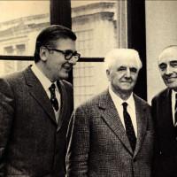 Tre sindaci comunisti di Bologna. Da sinistra, Fanti, Dozza e Zangheri