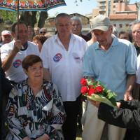 25 luglio 2009. Rimini, Ghetto Turco. Carla Voltolina, moglie di Sandro Pertini, all'inaugurazione del monumento al marito