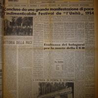 La chiusura del Festival 1954