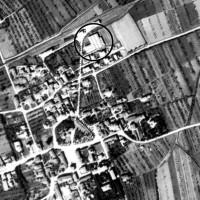 Foto di Cavriago scattata dalla ricognizione aerea alleata, 1945