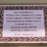 Targa commemorativa sezione Strocchi