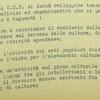 Alcuni obiettivi delle iniziative del Circolo del cinema Pasinetti, riflessioni redatte dalla Commissione cultura della federazione modenese del PCI, 1953 [ISMO, APCMO]