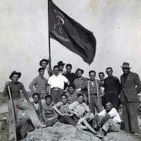 La sezione del PCI di Poggio Renatico durante i lavori per la riparazione degli argini del Reno dopo l'esondazione, 1952