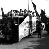 Carro allegorico delle donne di Savarna, Pace Lavoro Libertà, 8 marzo 1950