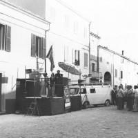 Fine maggio 1975. Morciano di Romagna. Manifestazione per l'inaugurazione della nuova sede del Comitato di Zona Valconca del PCI