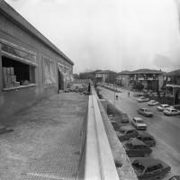 1978. Ospedaletto. Dalla terrazza della Casa del Popolo in costruzione si vedono le case del paese