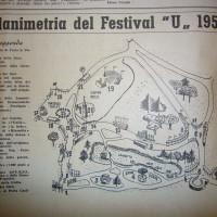 La pianta del Festival dell'Unità ai Giardini Margherita (1954)