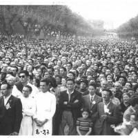 La folla assiste a un comizio della festa provinciale, 1949  [ISMO, AFPCMO]