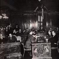 Dozza sindaco nella prima seduta del Consiglio comunale dopo le amministrative del 1946