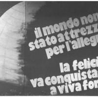 Cartellone della FGCI a una festa dell'Unità degli anni Ottanta [ISMO, AFPCMO]