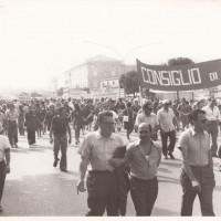 Fondo Fotografico Michele Minisci- corteo dei lavoratori della Mangelli e della Becchi, 26 luglio 1972