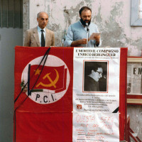 Comizio dopo la morte di Enrico Berlinguer, estate 1984