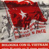 La rivista Due Torri annuncia una manifestazione sul Vietnam in Piazza Maggiore
