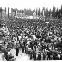 Il Pubblico alla festa nazionale del 1966, in cui parò Longo [ISMO, AFPCMO]